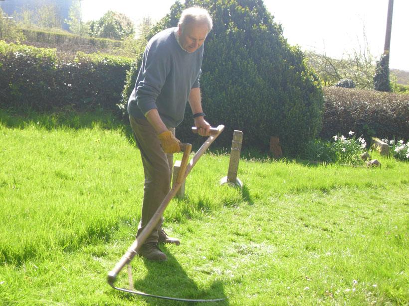 Martin Garland scything