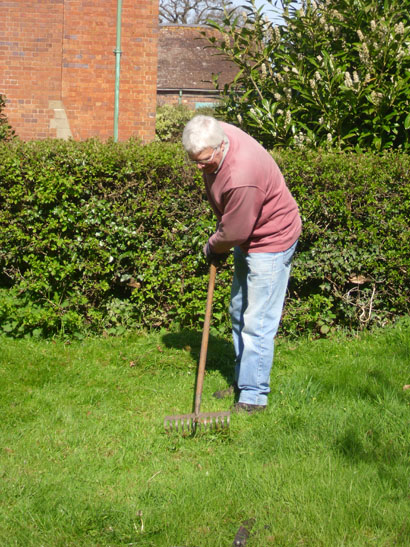 Traditional methods of scything and raking are used when preparing the grass for the wildflowers.....