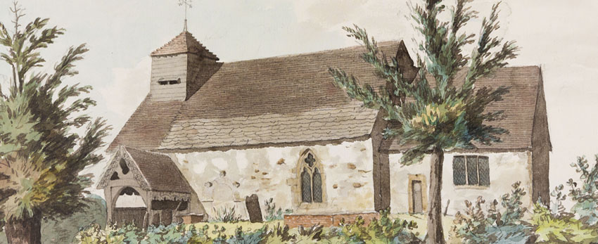 Billingsley Church, Rev. Williams watercolour