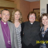 Bishop Alistair and Rev'd Iliffe with the Billingsley Church Wardens Rebecca Hadley and Zoe Baggott.