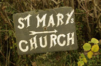 St Marys Church Signpost