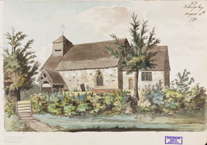 Watercolour painting by Revd Williams dated August 11 1790. Shropshire archives ref: 6001/372/2fo.27
