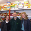 Our Church Wardens, Zoe and Rebecca with Phil Simpson from the Oswestry & Borders Food Bank