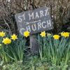 St Marys sign in Spring